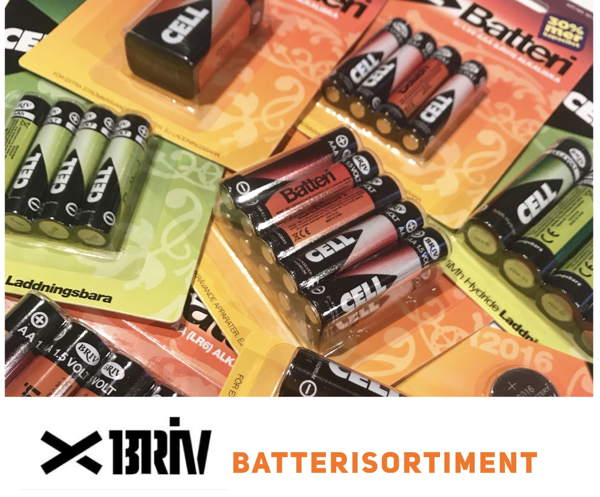 Briv batterisortiment
